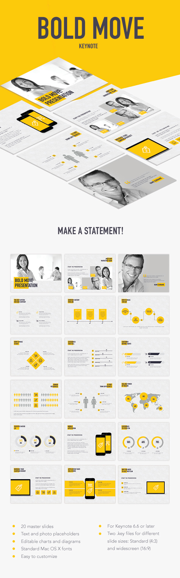 Bold Move Keynote Template - Keynote Templates Presentation Templates