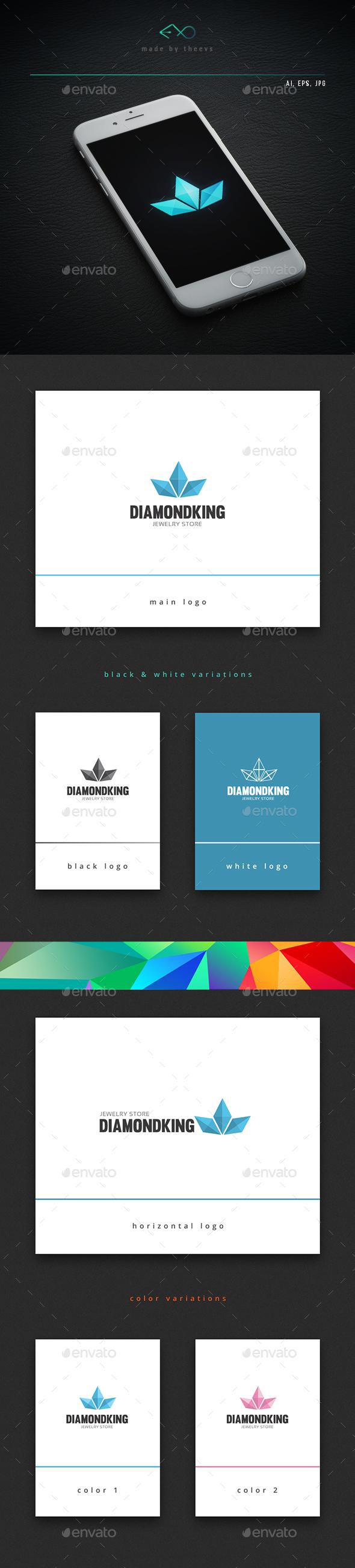 Diamondking - Objects Logo Templates