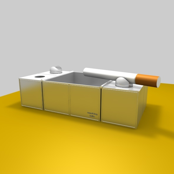 3d model ashtray  - 3DOcean Item for Sale