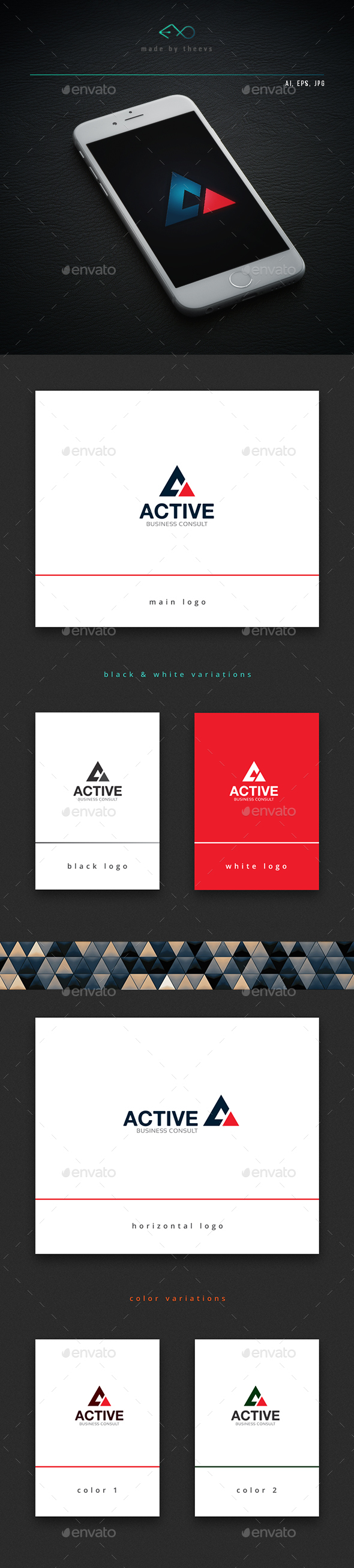 Active - Vector Abstract