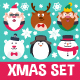 Round Flat Christmas Characters - GraphicRiver Item for Sale