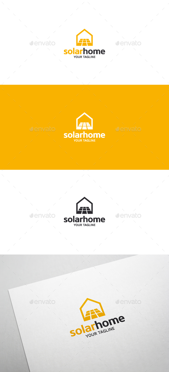 Solar Home - Logo Template - Objects Logo Templates