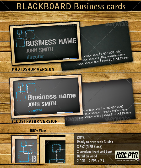 Blackboard Business Cards - Creative Business Cards