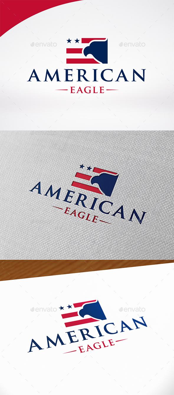 American Eagle Flag Logo Template - Symbols Logo Templates