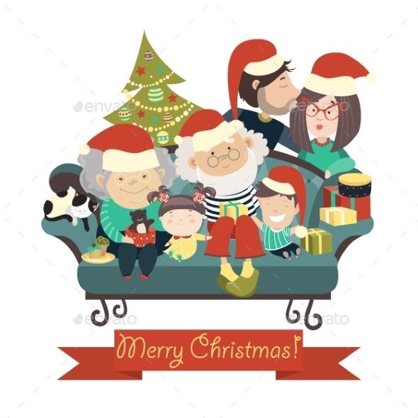 Family Celebrating Christmas  - Christmas Seasons/Holidays