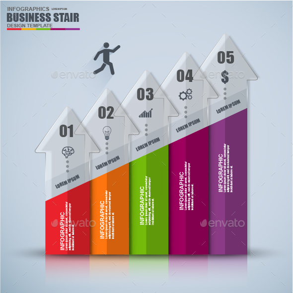 Abstract 3D Digital Business Infographic - Infographics