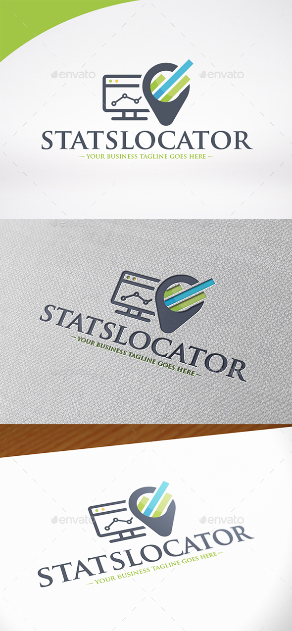 Marketing Locator Logo Template - Symbols Logo Templates