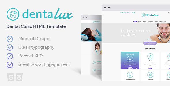 Dentalux | Dentist & Healthcare Site Template - Health & Beauty Retail