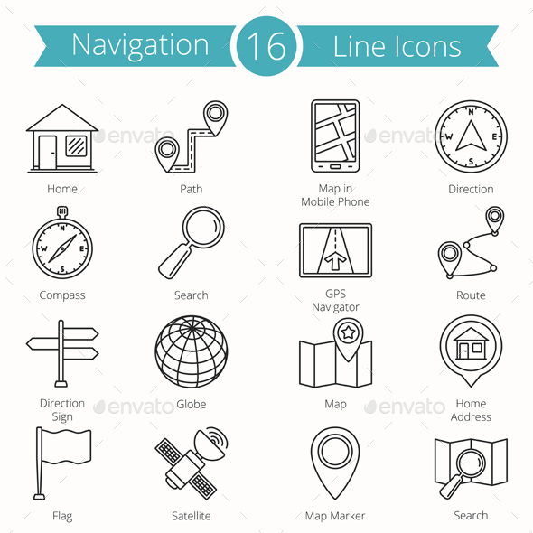Navigation Line Icons - Miscellaneous Icons