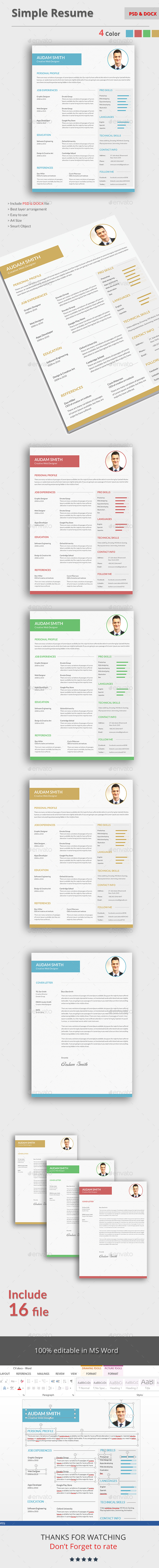CV - Stationery Print Templates