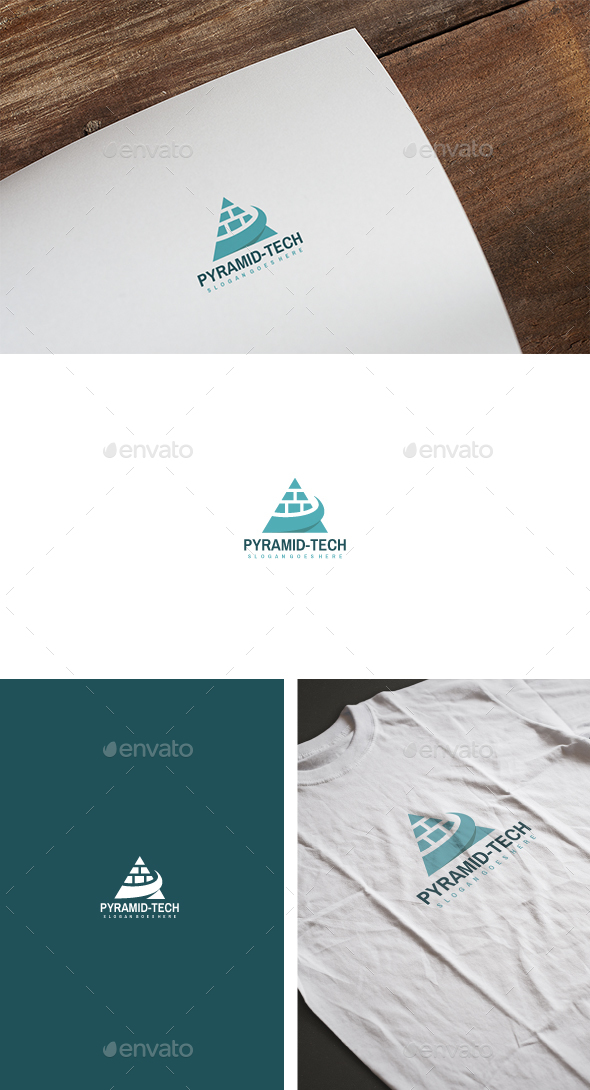 Pyramid Technologie IT Logo - Abstract Logo Templates