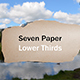 Paper Lower Thirds - VideoHive Item for Sale