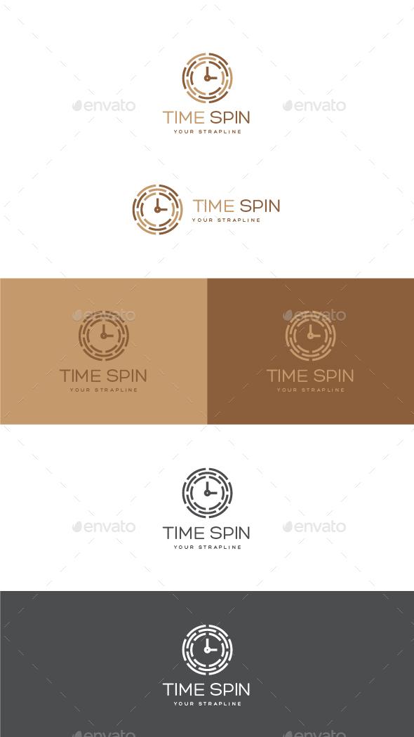 Time Spin Logo - Symbols Logo Templates