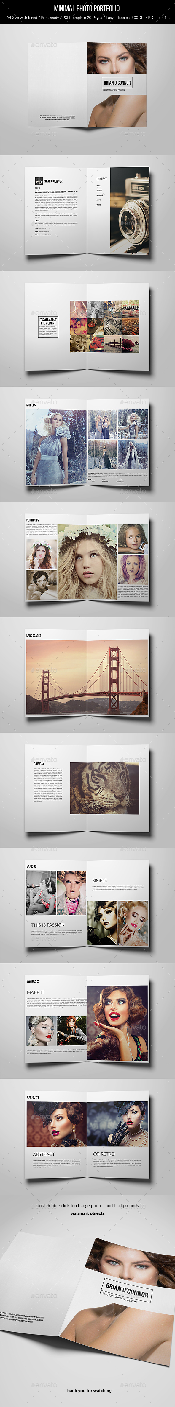 Minimal Photo Portfolio - 20 Pages - Portfolio Brochures