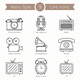 9 Retro Objects Line Icons - GraphicRiver Item for Sale