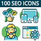 Seo, Marketing And More Icons Set - GraphicRiver Item for Sale