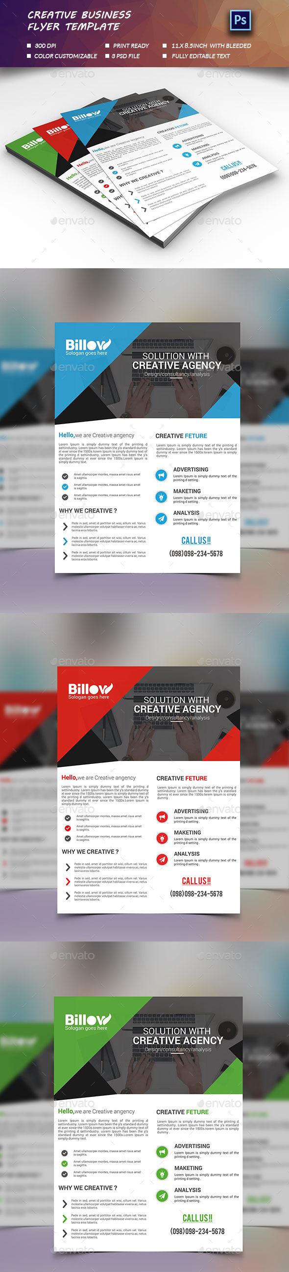 Creative Business Flyer  - Flyers Print Templates