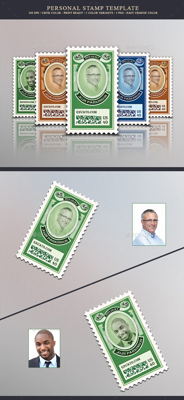Personal Stamps - Miscellaneous Print Templates