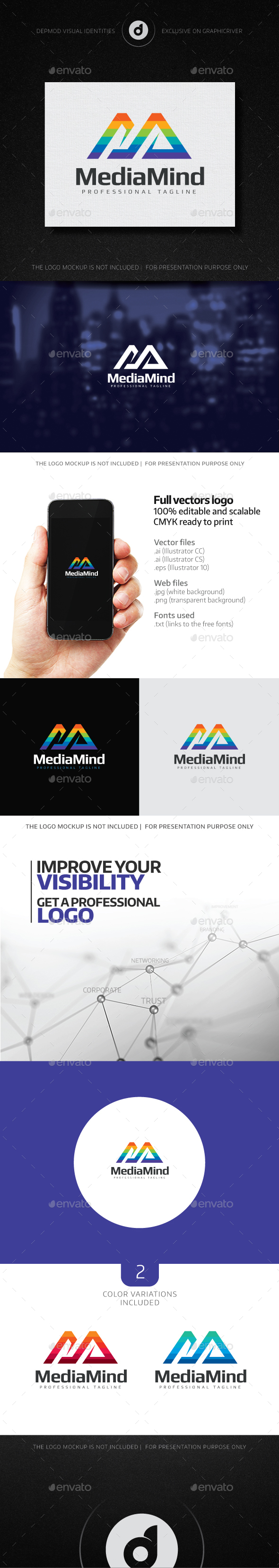 Media Mind Logo - Letters Logo Templates