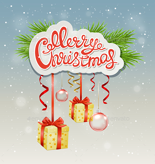 Greeting Inscription and Gifts - Christmas Seasons/Holidays