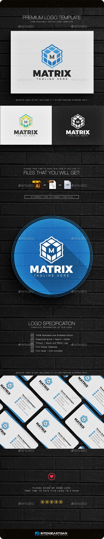 Matrix - Letter M Logo - Letters Logo Templates