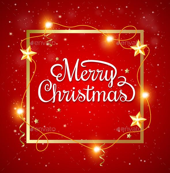 Christmas Frame with Greeting Inscription - Christmas Seasons/Holidays