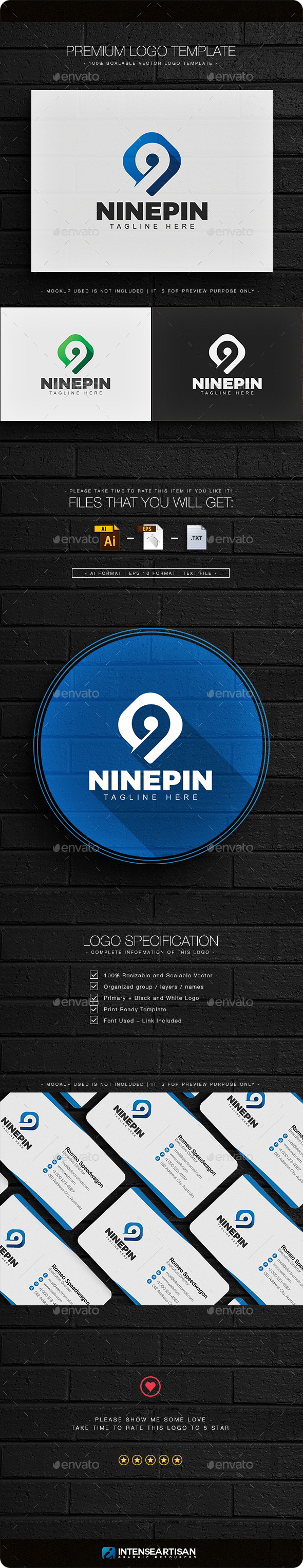 Number Nine Logo - Numbers Logo Templates