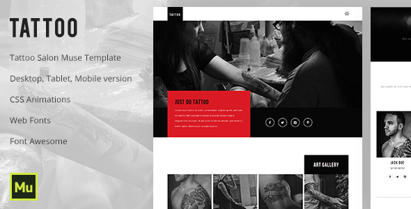 Tattoo – Tattoo Salon Muse Template