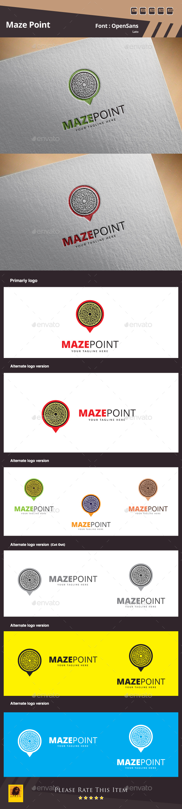 Maze Point Logo - Symbols Logo Templates