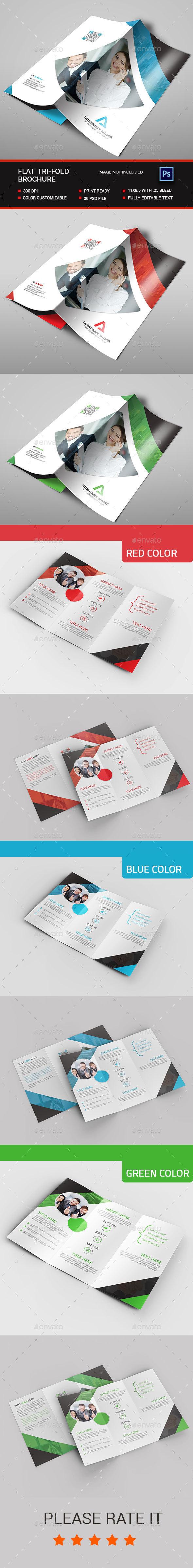 Flat Tri-fold Brochure - Brochures Print Templates