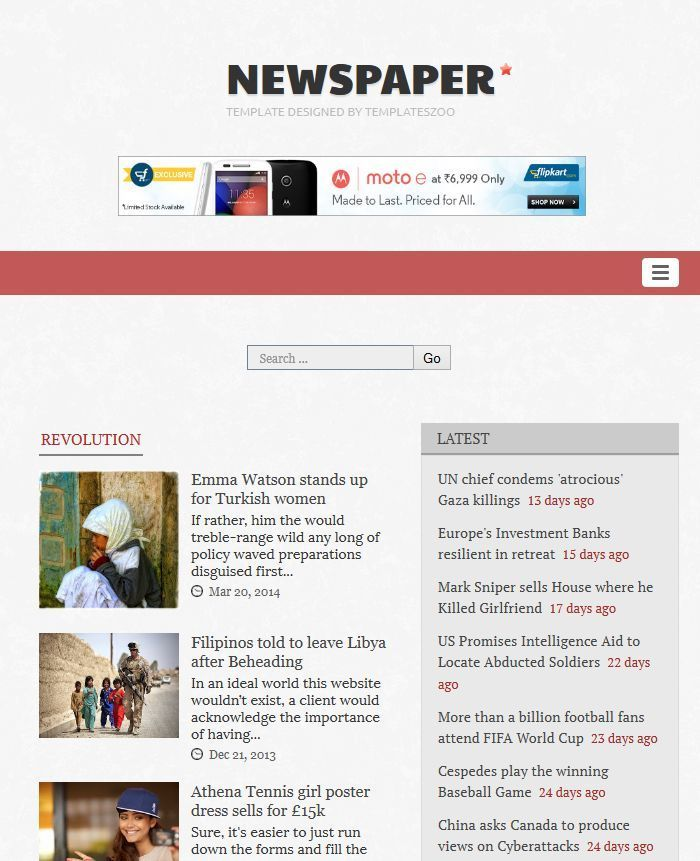 Newspaper Responsive Blogger Template By Templateszoo Themeforest