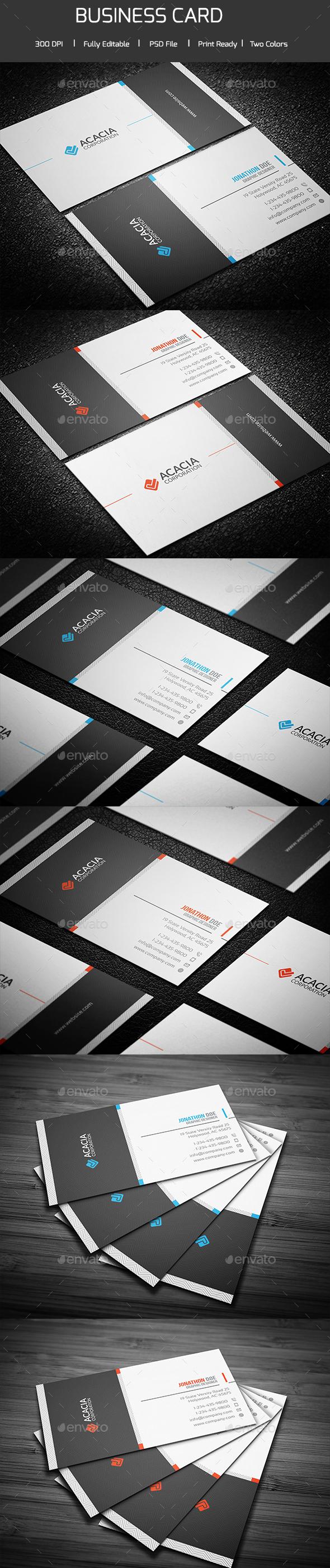 Mega Acacia Business Card - Corporate Business Cards