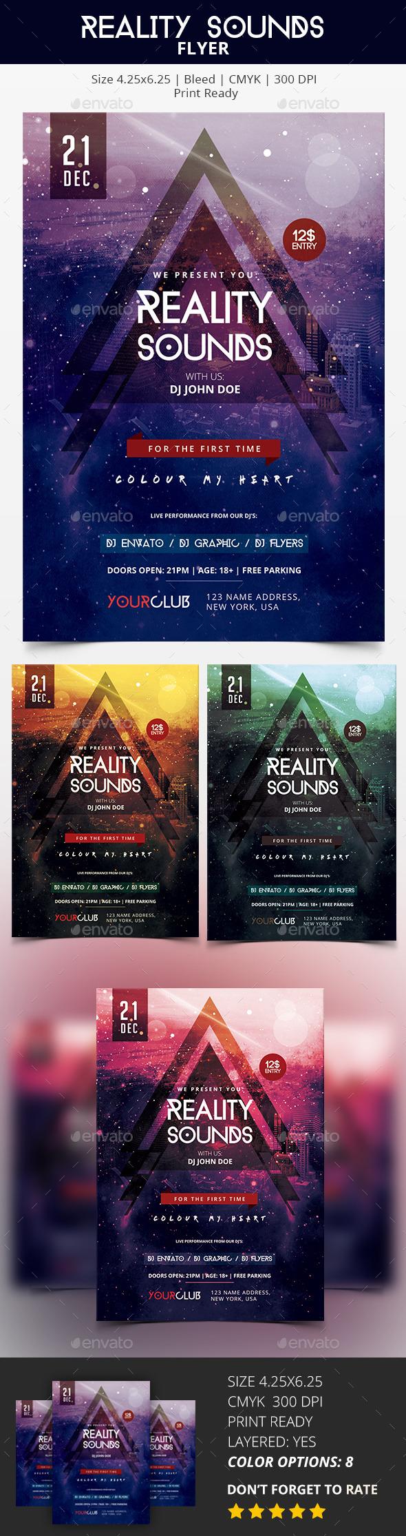 Reality Sounds - PSD Flyer - Flyers Print Templates