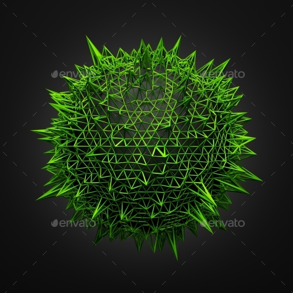 Abstract Sphere With Chaotic Structure. - Tech / Futuristic Backgrounds