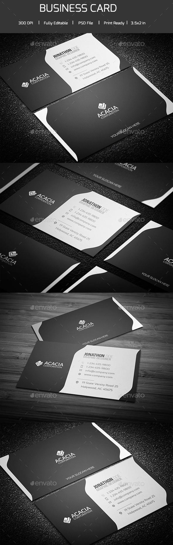 ACACIA BUSINESS CARD V-02 - Corporate Business Cards