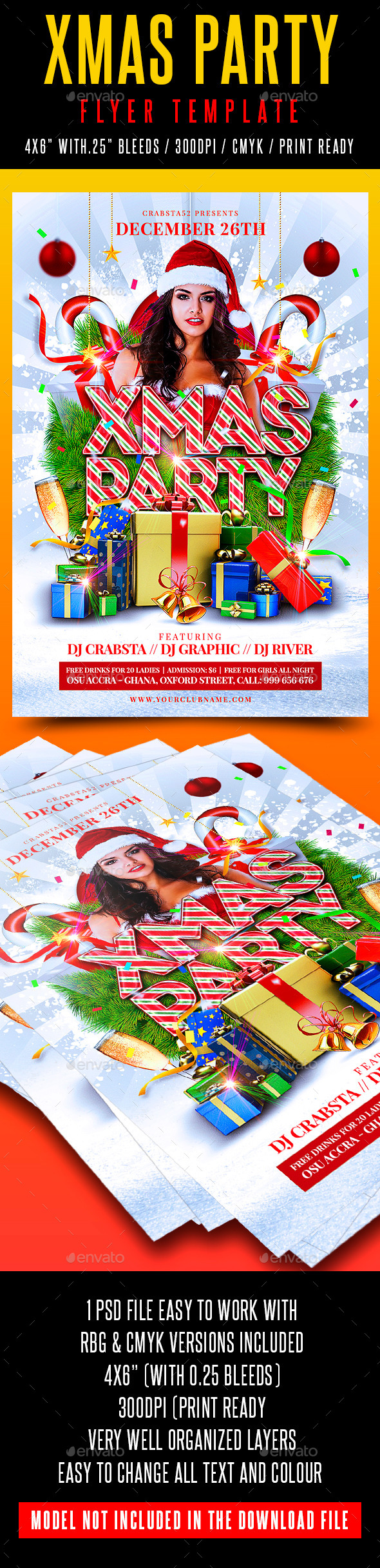 Xmas Party Flyer Template - Holidays Events