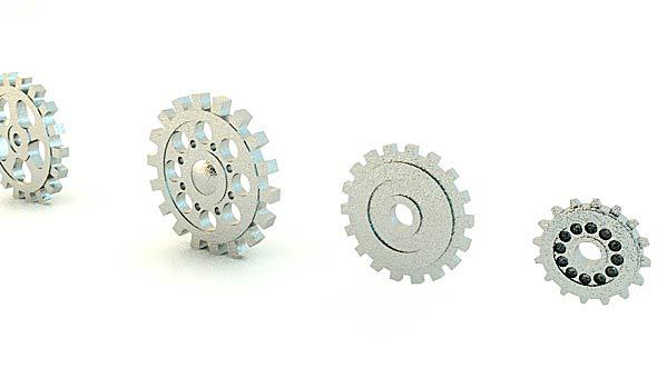 4 Different Gears Models - 3DOcean Item for Sale