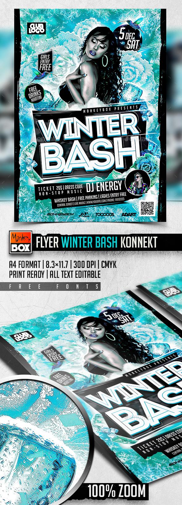 Flyer Winter Bash Konnekt - Flyers Print Templates