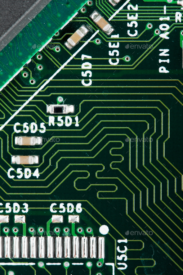 Computer electronic circuit - Stock Photo - Images