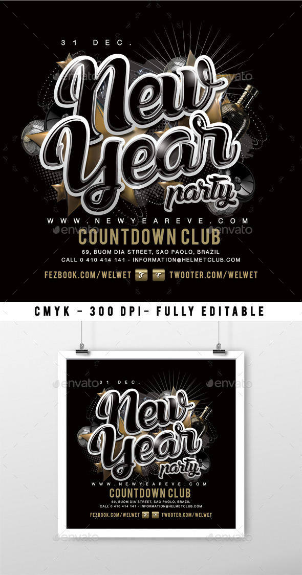 Nye Party - Events Flyers