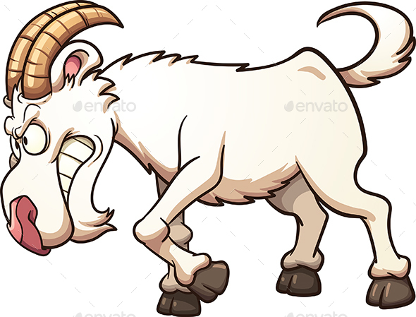 Angry Goat - Animals Characters