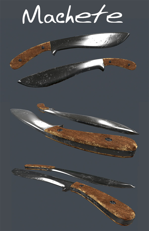 Machete, Low-Poly - 3DOcean Item for Sale