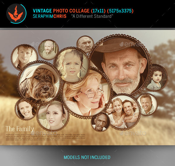 Vintage Photo Collage Template - Photo Templates Graphics