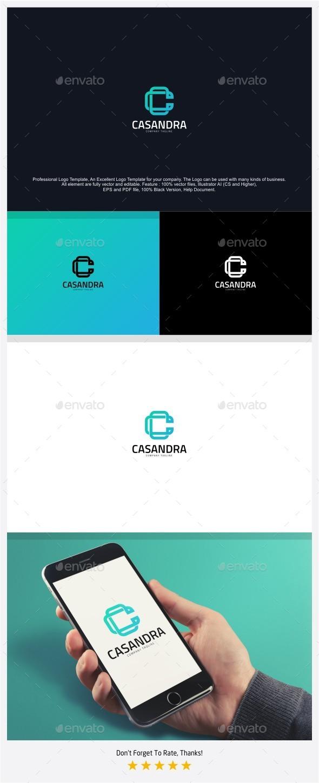 Letter C - Casandra Logo - Letters Logo Templates