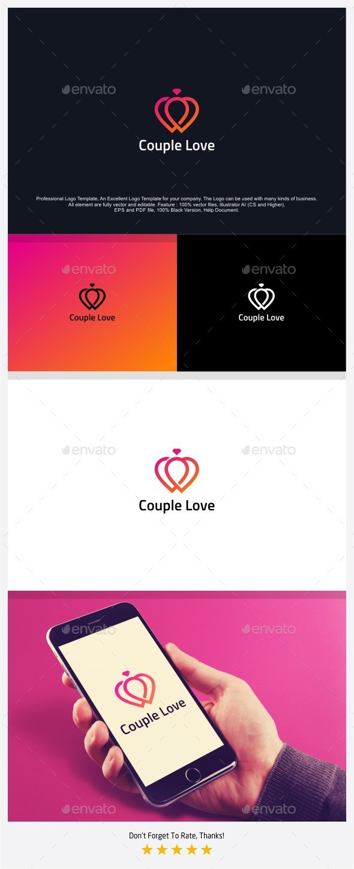 Couple Love - Love Ring Logo - Symbols Logo Templates