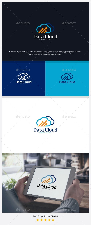 Data Cloud - Cloud Computing Logo - Symbols Logo Templates