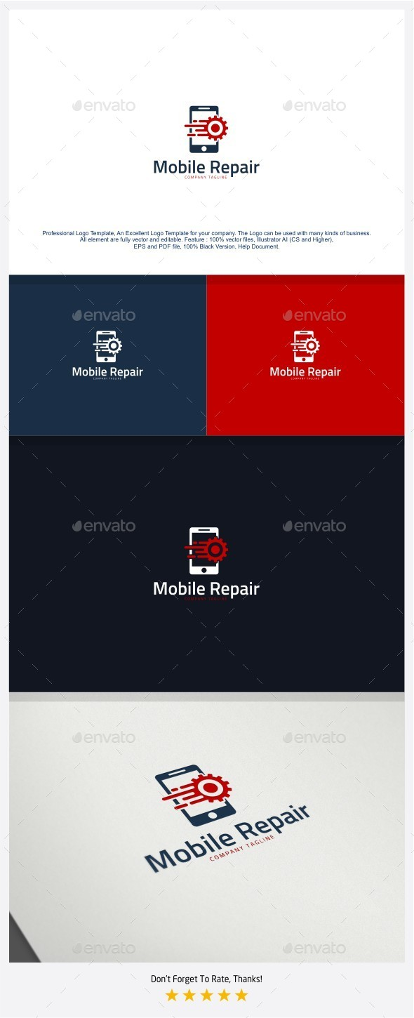 Fast Mobile Repair Logo - Objects Logo Templates