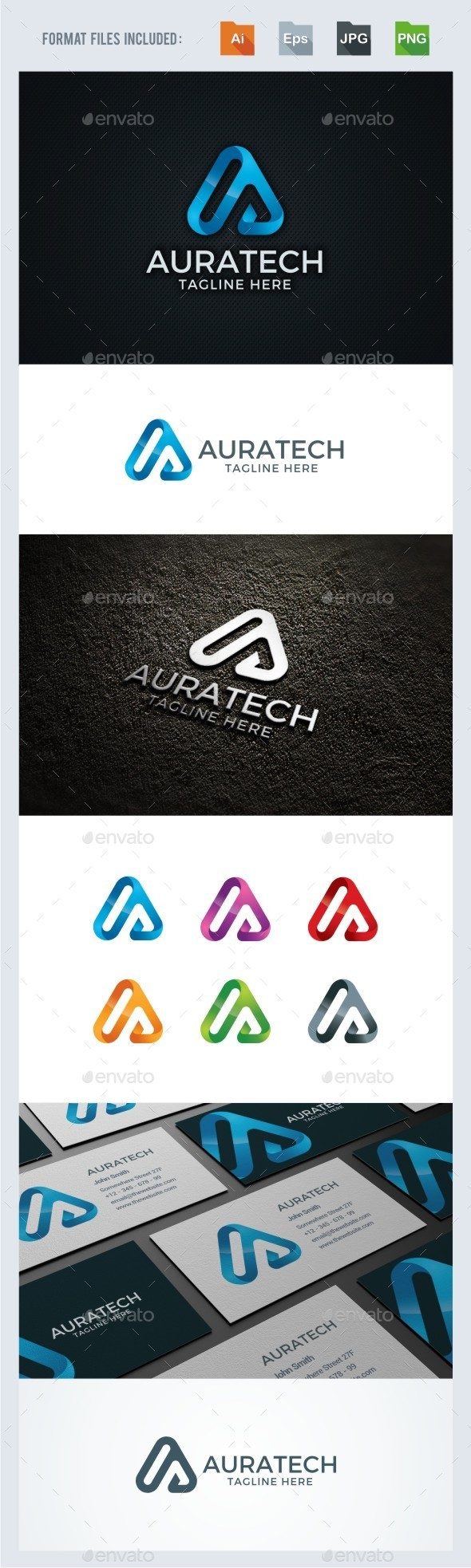 A Letter - Technology Logo Template - Letters Logo Templates