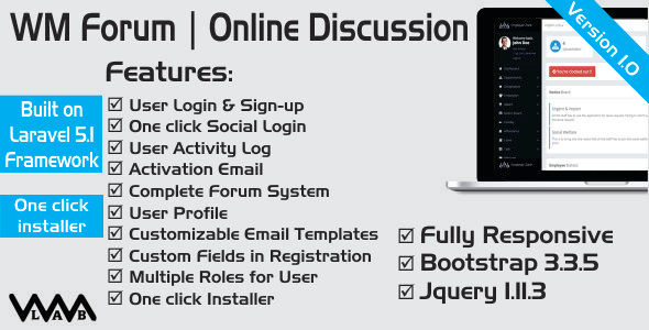 WM Forum | Online Discussion - CodeCanyon Item for Sale
