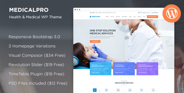 MedicalPro – Health and Medical WordPress Theme